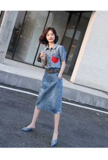 加绒加厚牛仔裤品牌女裤货源,上华曼欣服饰艾格  货源品牌女装就选华曼欣服饰