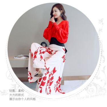 大码女装黑白色系套装潮流时尚气质折扣走份货源