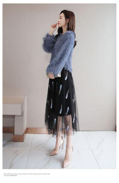 服装进货中一手指的是什么罗柯丽女款长袖蕾丝打底衫卖服装是就近拿货好吗伊芙心悦双排扣修身裙